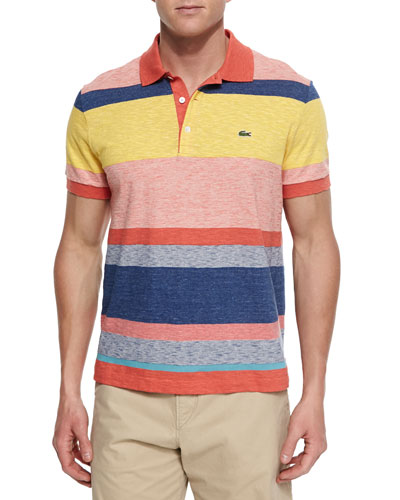 Bold Stripe Polo Shirt, Orange