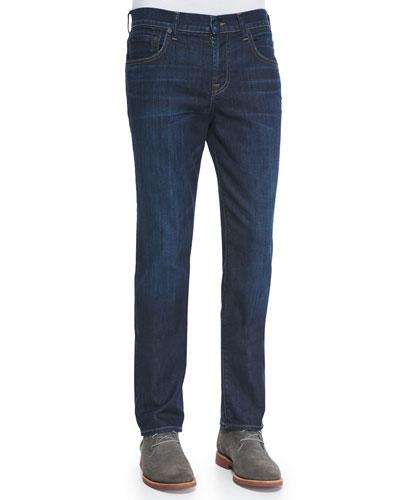 Straight-Leg Luxe Denim Jeans