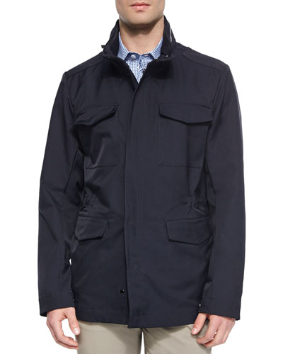 Four-Pocket Field Jacket, Navy