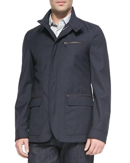 Salvatore Ferragamo Virgin Wool Jacket with Zip-Out Vest