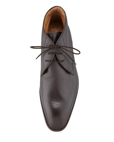 Peccary Chukka Boot, Dark Brown