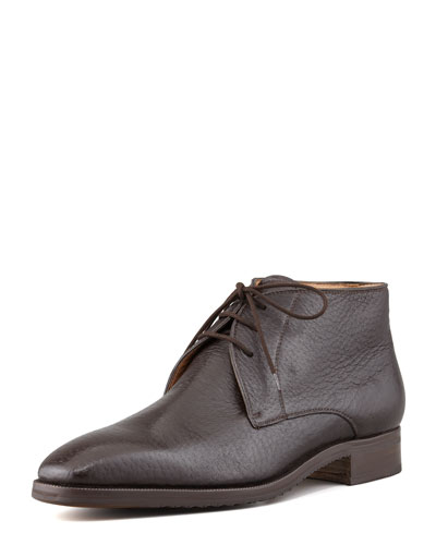 Peccary Chukka Boot, Dark Brown