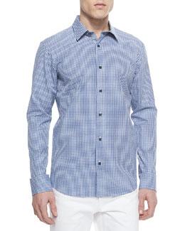 Seith Gingham Sport Shirt, Tidal