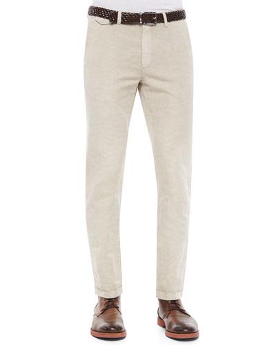 Five-Pocket Slim-Fit Jeans, Sand