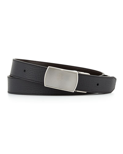 Reversible Belt with Engine-Turned Buckle