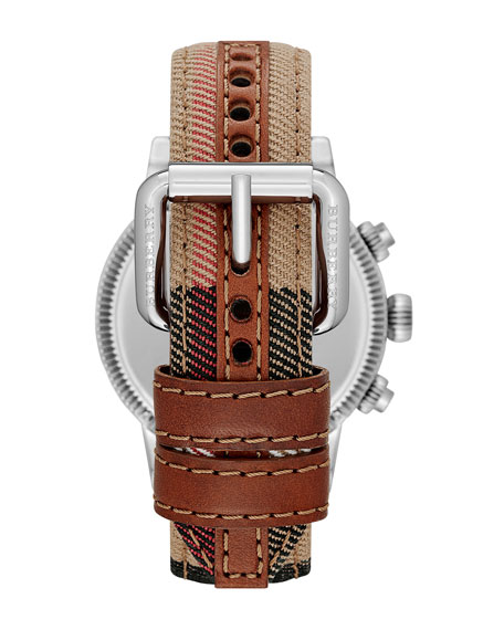 42mm Check-Strap Chrono Watch