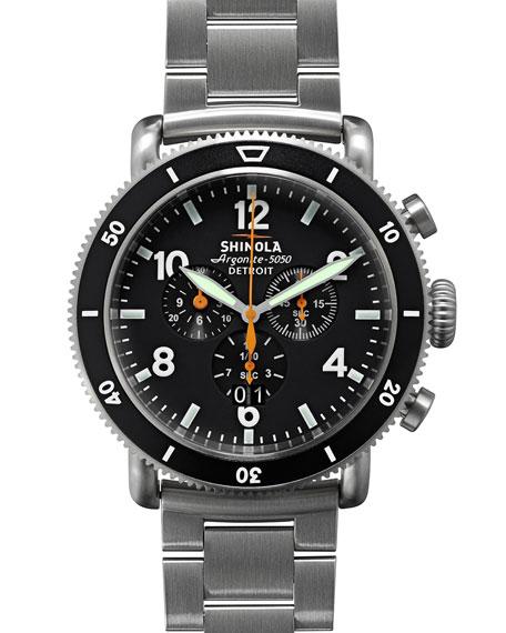 Shinola 48mm Limited Edition Black Blizzard Watch