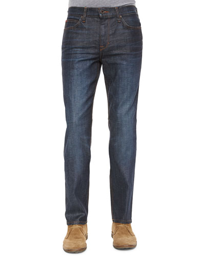 Brixton Coated Resin Slim-Straight Denim, Dark Blue