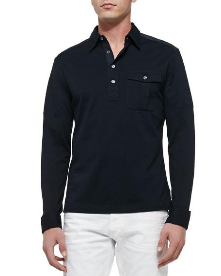 Black Long Sleeve Ralph Lauren Polo Shirt