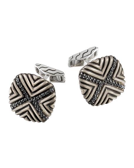 John Hardy Men's Bedeg Black Sapphire Cuff Links