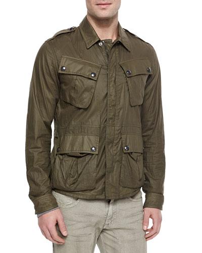 Gardiner Coated Jacket, Green