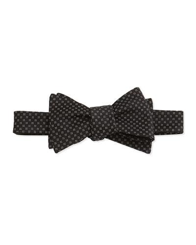 Square Diamond Pattern Bow Tie, Black
