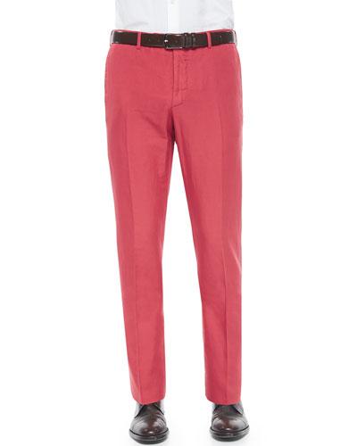 Chinolino Cotton/Linen Trousers, Paprika