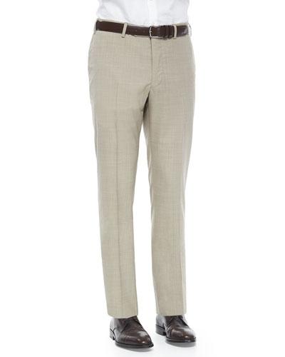 Super 150's Wool Trousers, Tan