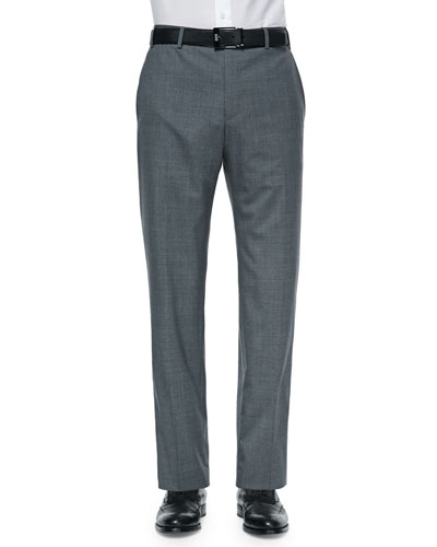 Super 150s Wool Trousers, Charcoal