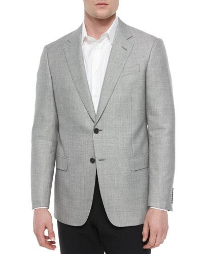 G-Line Dot-Print Sport Coat, Black/White