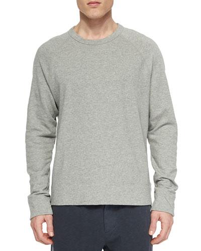 Vintage Heather Crewneck Sweater, Light Gray
