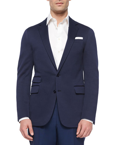 Daniel Solid Two-Button Sport Coat, Navy
