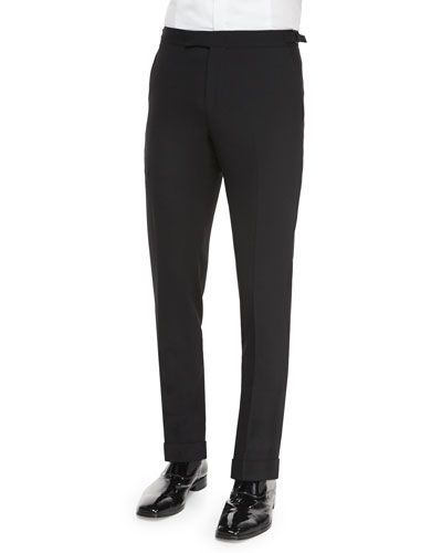 Anthony Formal Wool Trousers, Black