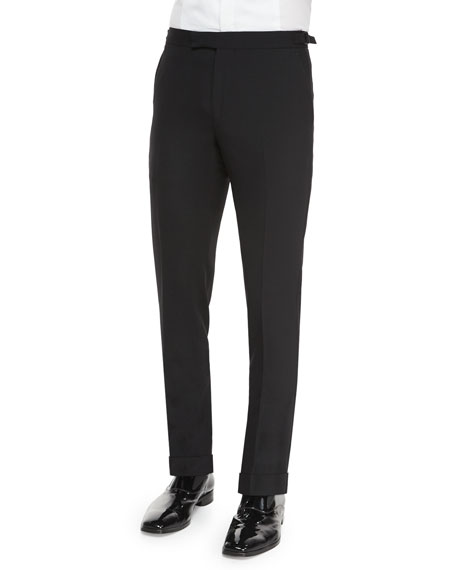 Ralph Lauren Black Label Anthony Formal Wool Trousers,