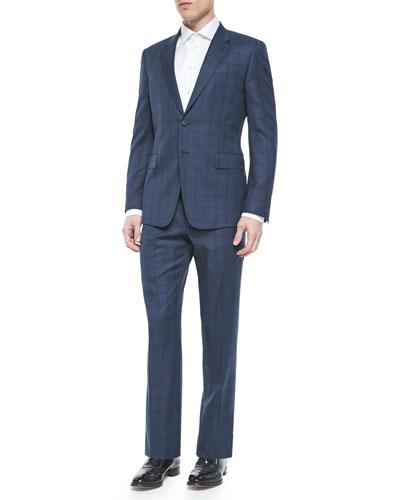 Plaid Two-Piece Suit, Bright Blue