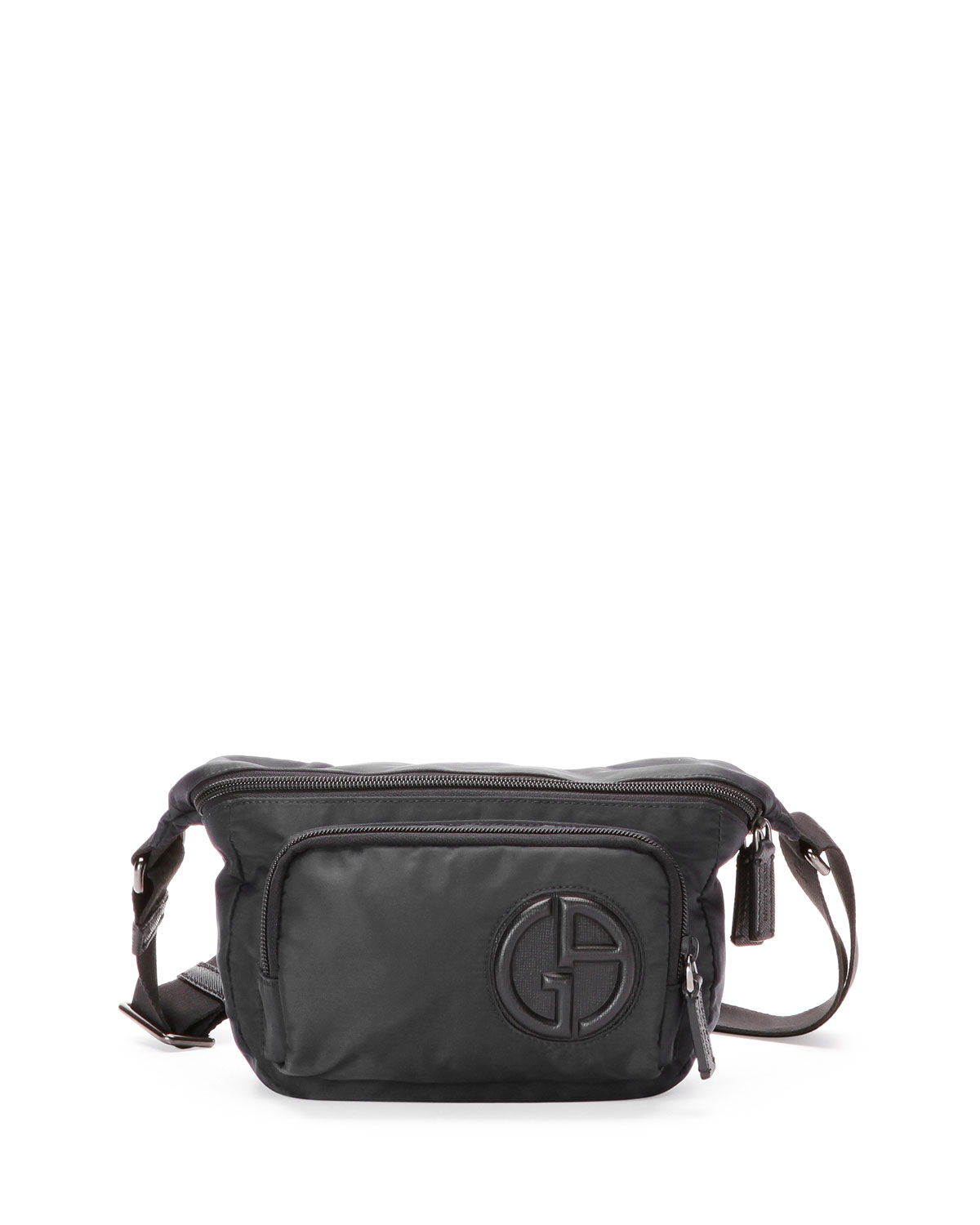9f83087f13 Nylon Belt Bag with Leather Trim