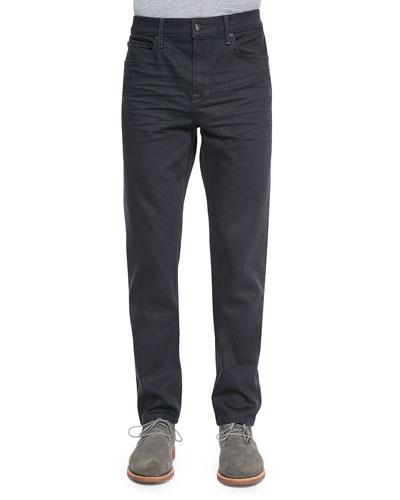 Savile Row Fitted Slim Jeans, Dark Blue