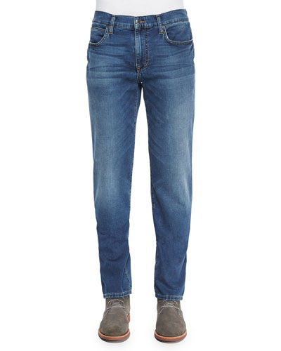 Elwood Classic Straight-Leg Jeans, Light Blue