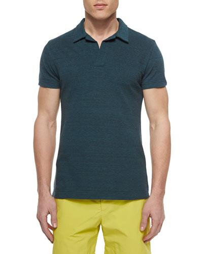 Felix Mallard Johnny-Collar Polo, Green
