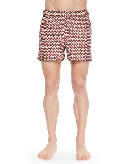 Orlebar BrownSetter Brick Road Short-Length Swim Trunks, Red