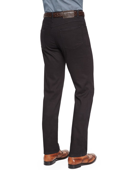 Stelvio Five-Pocket Denim Jeans, Black