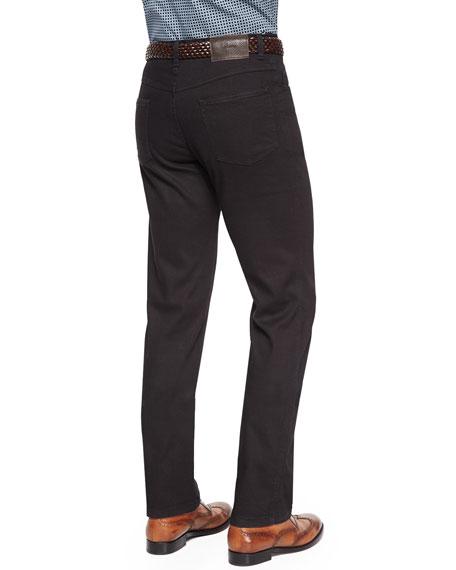 Stelvio Five-Pocket Denim Jeans, Black