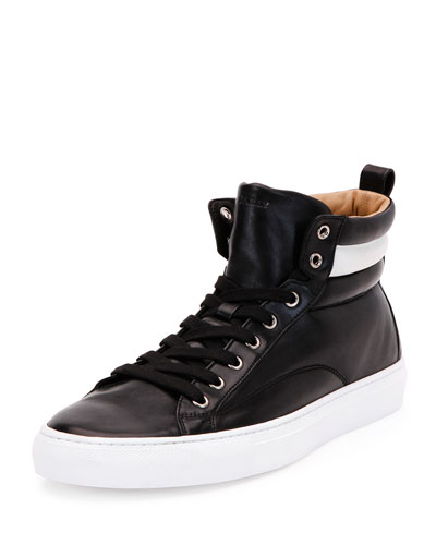 Lambskin High-Top Sneaker, Black