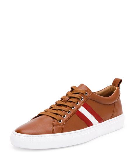 Bally Lambskin Low-Top Sneaker, Red