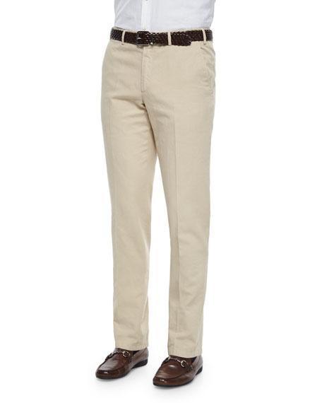 Loro PianaSt. Malo Regular-Fit Dyed Pants, Sand