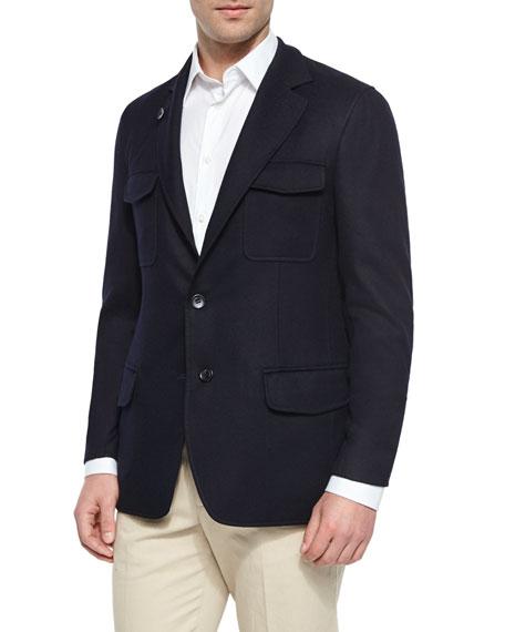 Loro PianaWashington Reversible Cashmere-Blend Jacket, Navy