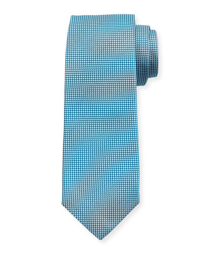 Textured Dot Silk Tie, Aqua