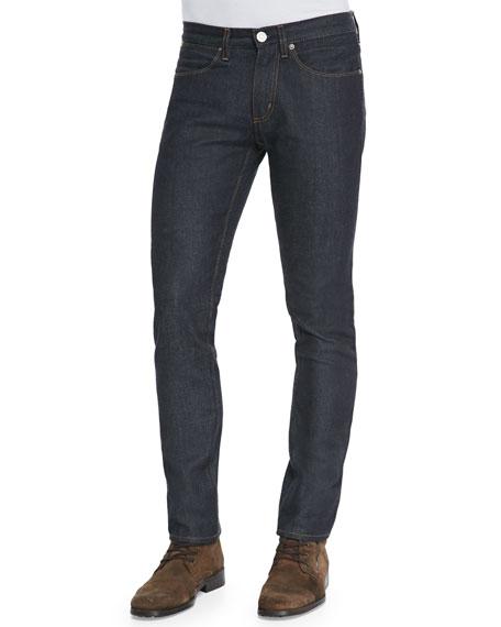 Acne Studios Max Raw Skinny Jeans, Indigo