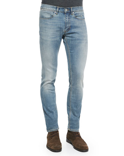 Max Skinny-Fit Denim Jeans, Light Blue