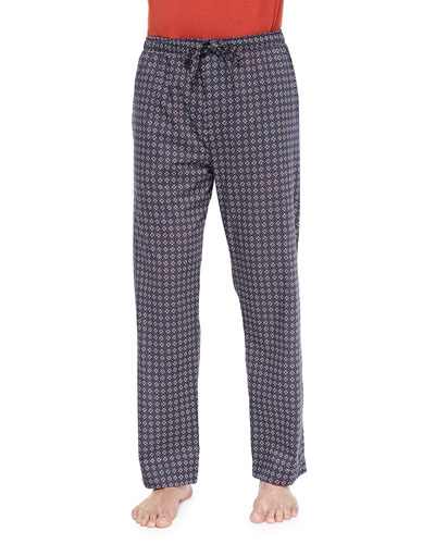 Star-Print Batiste Lounge Pants