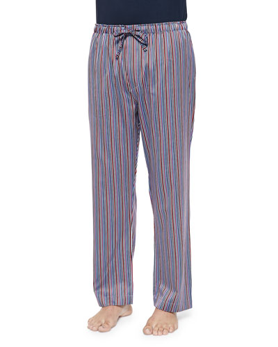 Striped Sateen Lounge Pants, Multi