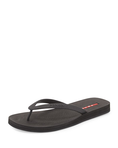 Rubber Flip Flop, Black