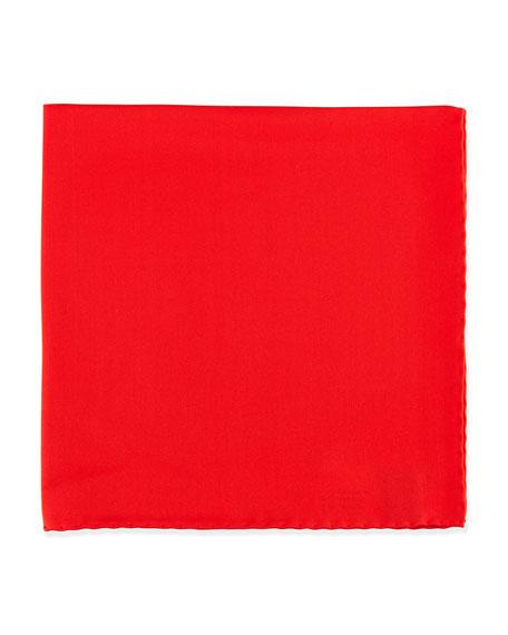 Silk Pocket Square, Red
