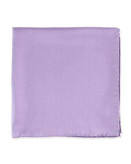 Neiman Marcus Silk Pocket Square, Lavender
