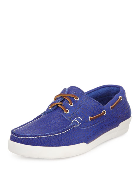 Eastland Men's USA Bison Boat Shoe, Royal Blue