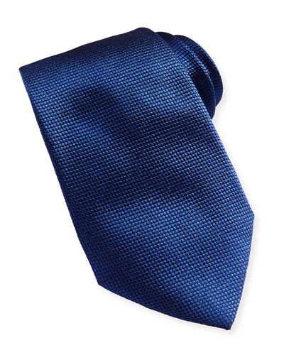 Textured Solid Tie, Blue