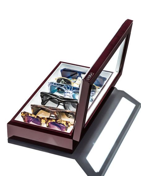 Eyewear Organizer Case, Mahogany