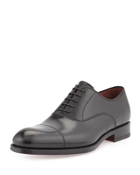 Magnanni for Neiman Marcus Cap-Toe Lace-Up Oxford, Black