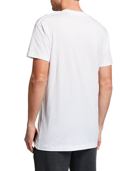 Pima Cotton V-Neck T-Shirt, White