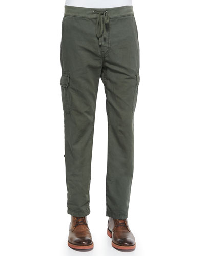 Fatigue Weekend Cotton Cargo Pants, Green